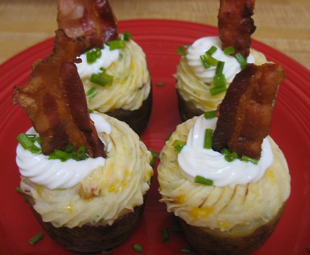 Twice Baked Potato Cupcakes | Potato base with sour cream &q ...