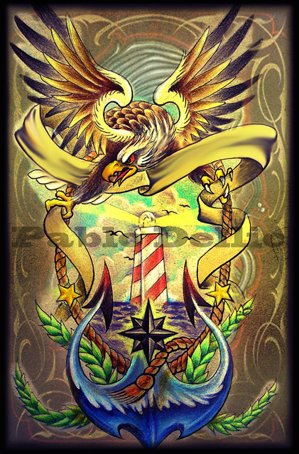 Eagle traditional tatt...