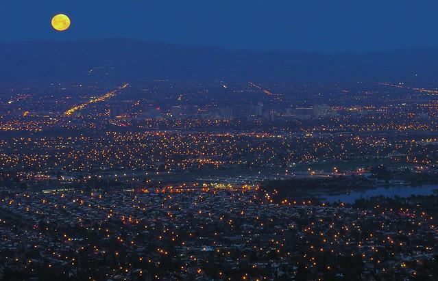 San Jose City MoonSet