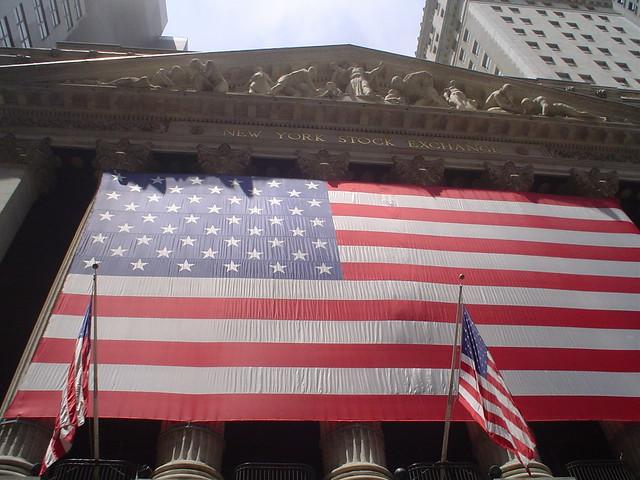 Foto vista de Wall Street en Nueva York EE.UU.