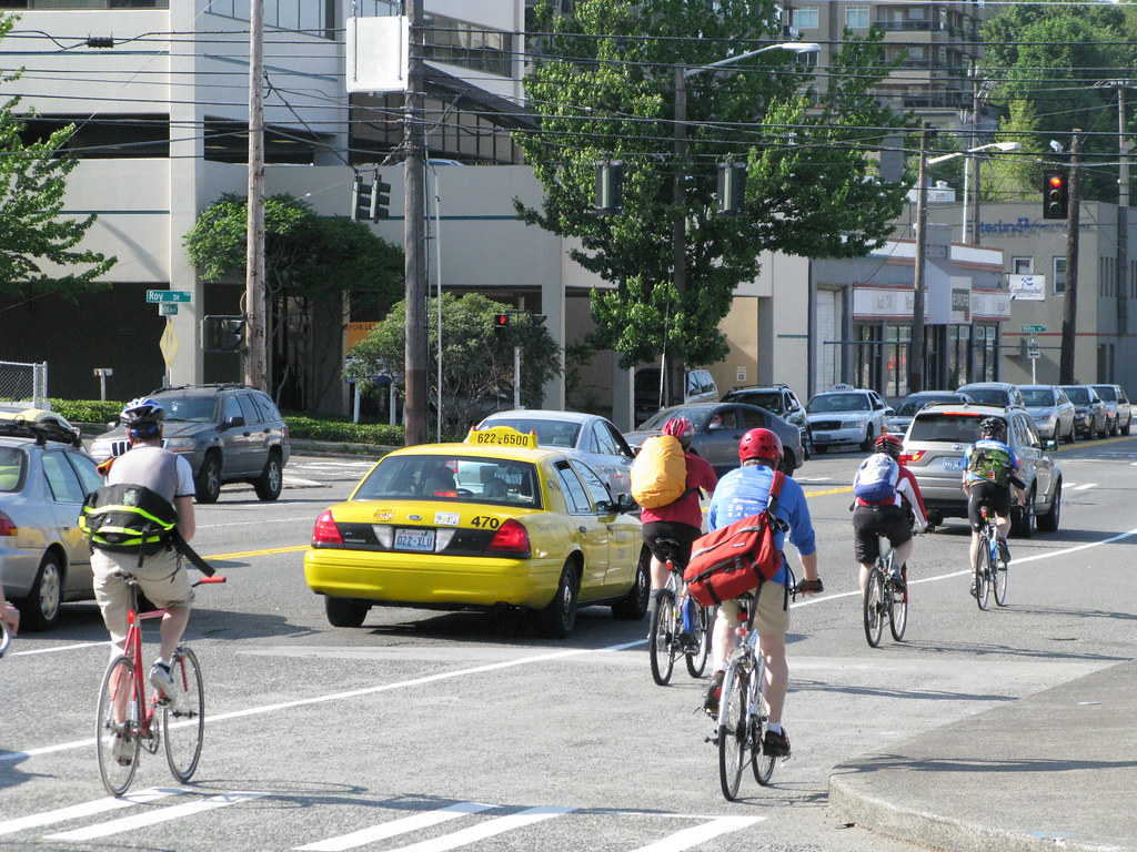 Cyclists on Dexter Avenue