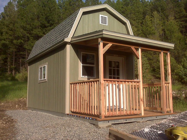Pro Tall Barn With Porch On End Wall Flickr Photo Sharing