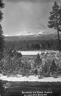 Deschutes River and the Three Sisters as seen from Bend