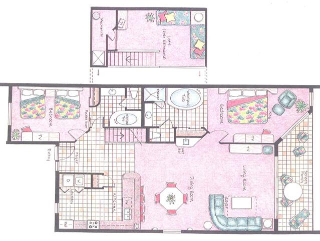 Westgate Vacation Villas Floorplan