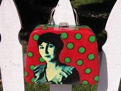 Peggy Bacon makeup case, red side by pennylrichardsca (now at ipernity)