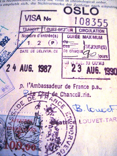 French visa, 1987