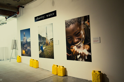 charity: water display