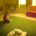 Indoor Lawn - Brian Eno Speaker Flowers Sound Installation at Marlborough House