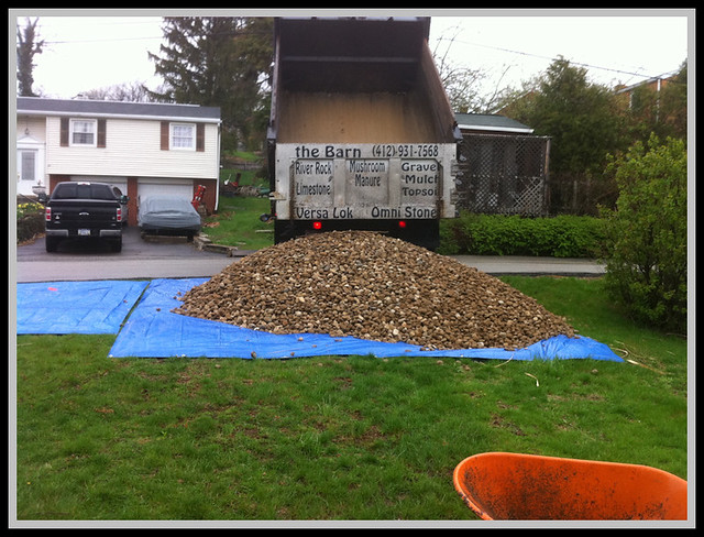 10 Ton River Rock : Ton river rock construction phase adding