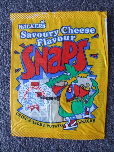 Yellow snaps crisps