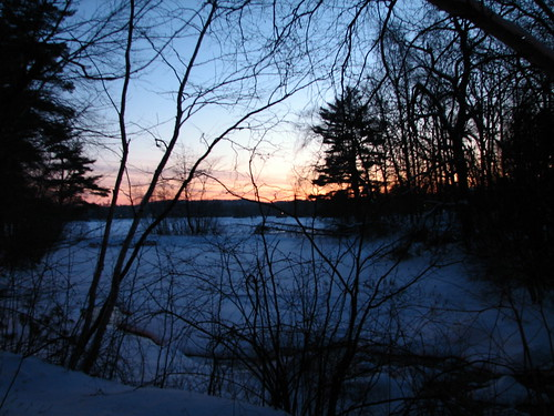 winter sunset lake massachusetts lunenburg hickoryhills