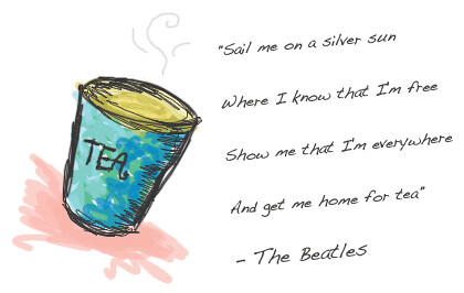 Tea and Beatles' Quote