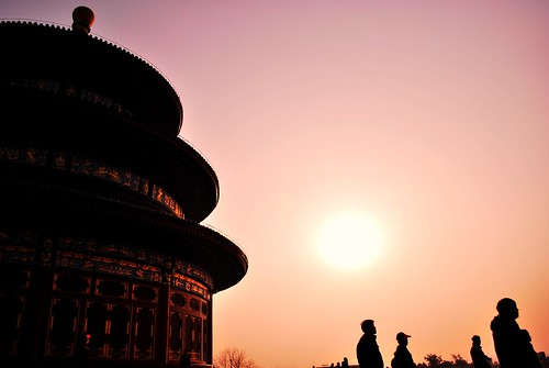 Sunset at temple of heaven