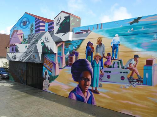 Endangered art fund restores endangered species mural for Thank you mural