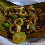 Malaysian Food, Squid and Fava Beans - Penang, Malaysia