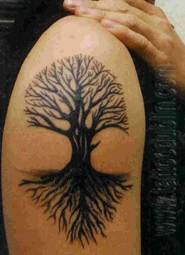 tribal tree tattoo black tattoo by dublin ireland tattoo