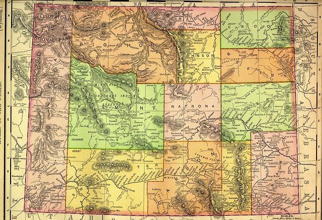 1895 Railroad Map Of Wyoming  Explore BrianSwan39s Photos