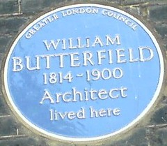 Photo of William Butterfield blue plaque