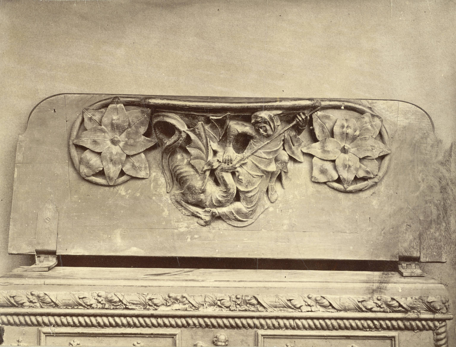 Misericord in Choir, Wells Cathedral