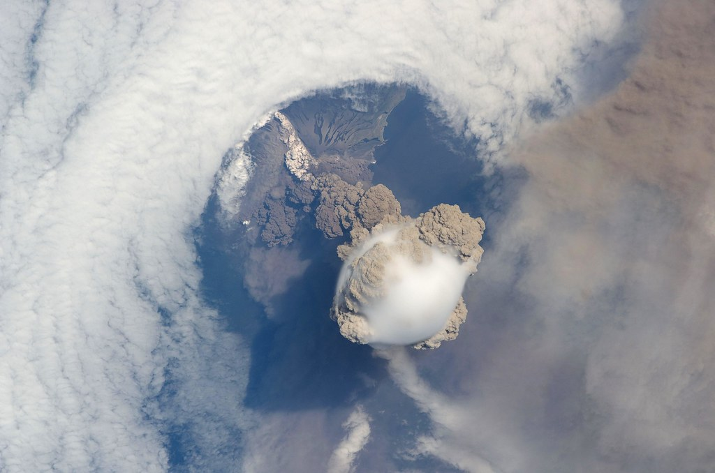 Amazing Sarychev Volcano - as seen from space