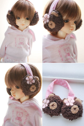 YoSD animal earmuffs - brown bear