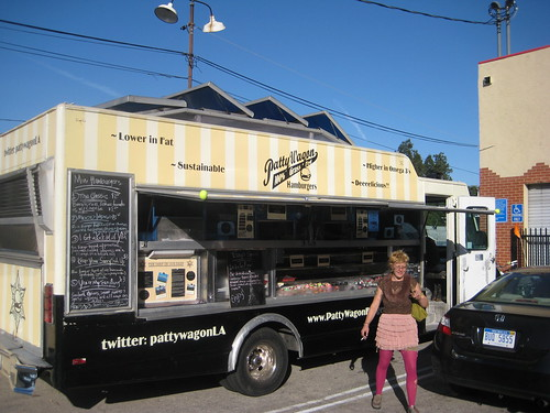 Patty Wagon burger truck outside the Eagle Rock Brewery