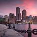 Boston Financial District Skyline by Jim Boud