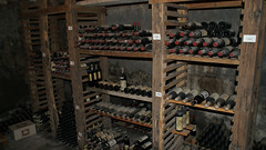 ancient history(0.0), stall(0.0), iron(0.0), wine cellar(1.0), wood(1.0), winery(1.0),