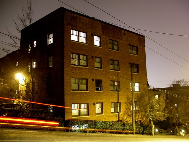Brick apartment building, Queen Anne Avenue, Seattle ... Brick Apartment Building