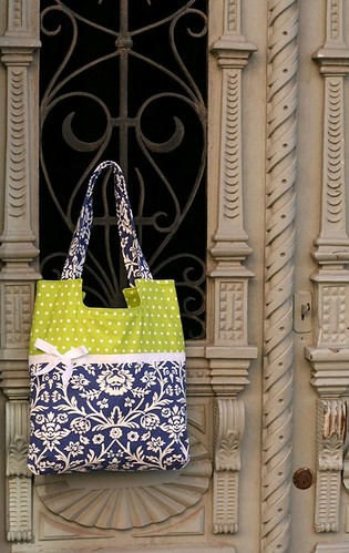 classy damask and lime bag