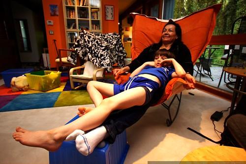 nick relaxing on grandma    MG 2425