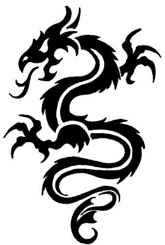 Traditional standing tribal dragon