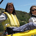 Kayaking friends (L-R) Ann Parker and Betty Tegner.