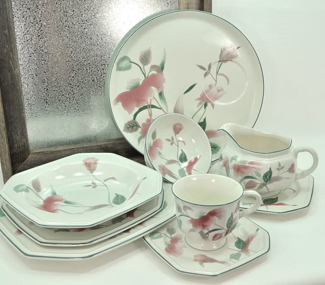 Silk flowers mikasa dinnerware castrophotos mikasa silk flowers 1990 dinnerware 7500 service for mightylinksfo