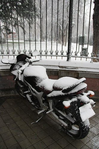 Moto congelada