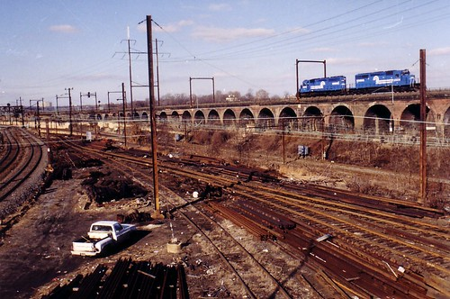 Conrail on the High Line, 1987