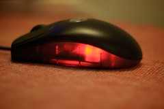 computer component, electronic device, red, macro photography, close-up, mouse,