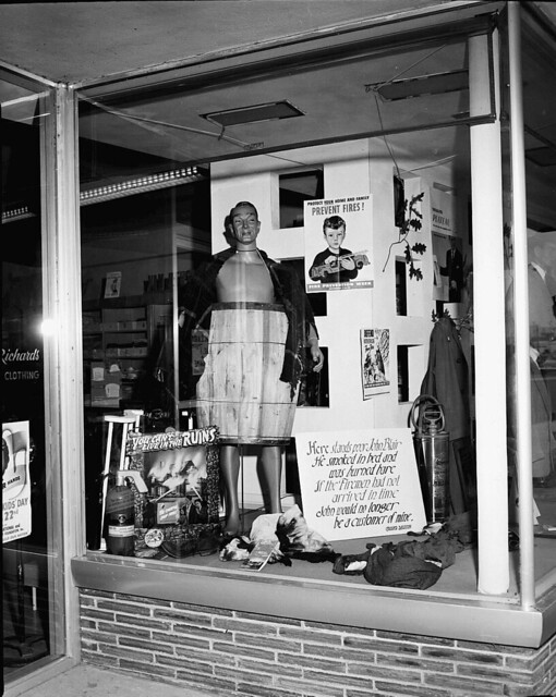 1954 FIRE PREVENTION WINDOW DISPLAY