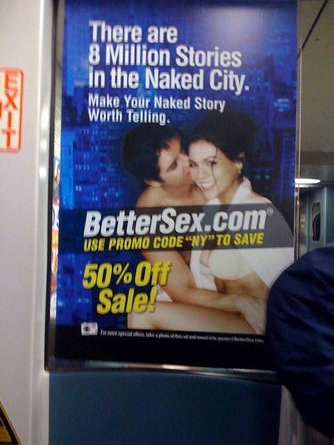 Better Sex Ad Contest 042609 Taken on LIRR