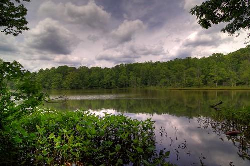 trees lake reflection water clouds nc tripod northcarolina hdr gitzo winstonsalem photomatix salemlake 5exposure ndx4 arcatech tokinaatx116prodx gt2531