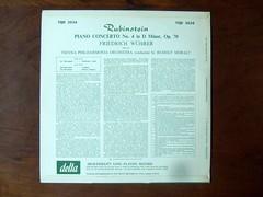 Backside Anton Rubinstein - Piano Concerto No 4 op 70 - Fr