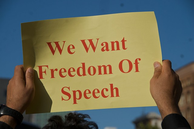 protecting freedom of speech It's clear to many of us educated, critical thinkers that the fever pitch of hate speech and verbal violence has grown so loud that it's hard to distingu.