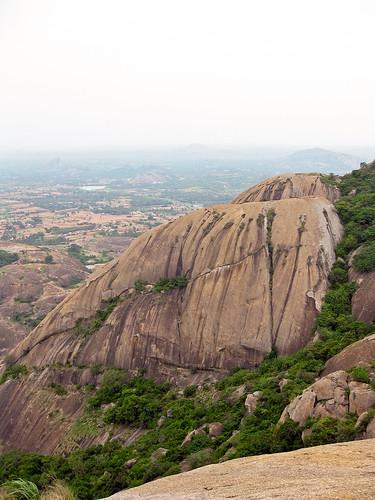 india mountain view hill granite aussicht karnataka indien savandurga hügel ind granit