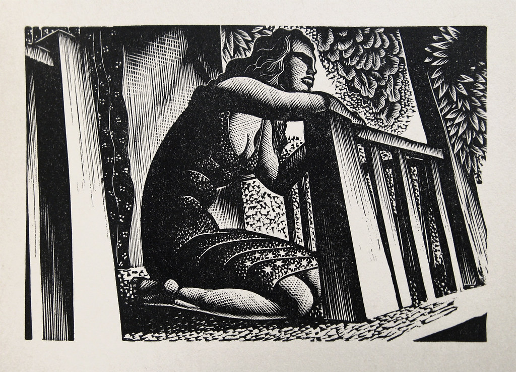 "Lynd Ward - Wood Engraving for Alec Waugh's ""Most Women..."" (1931)"