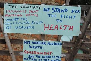 Signs of protest KC Sharifah Nabukenya