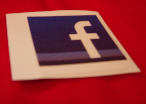 Facebook Logo sticker by jaycameron, via Flickr