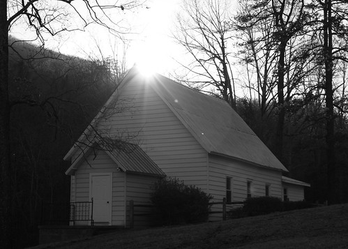 county sunset blackandwhite bw mountains church nc northcarolina mcdowell wnc whitechurch pineygrovebaptistchurch davidhopkinsphotography