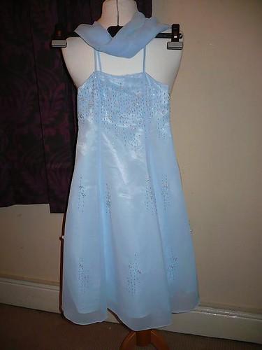 Baby Blue Flower Girl Dress 3 – 4 years – £20