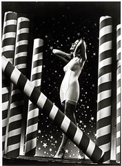 Carter Corsets, woman with stars and stripes background
