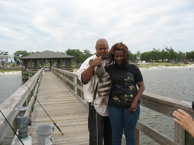 Fishing From The Pier Biloxi Schooner Pier Flickr